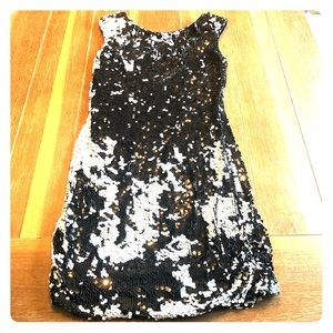 Black with white sequins dress!